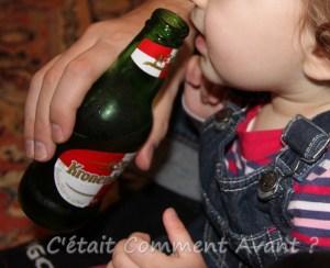 goûter la bière de mon papa ...ou pas !