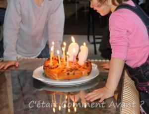 Souffler les bougies avec mamyli !