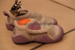 les chaussons attendent le père noël :-)