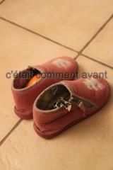 les chaussons attendent le père noël bis :-)