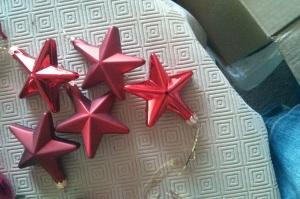Chez Papy et mamie pour faire le sapin il y avait plein d'étoiles