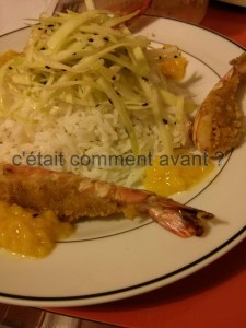 gambas en croute de curry