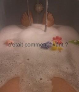 Prendre un bain...un truc qui n'était pas arrivé depuis une éternité !