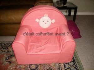 offrir à Melle Pikotine son fauteuil pour le salon !