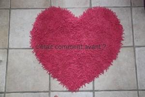 Le tapis coeur